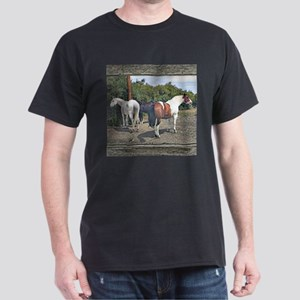 Old window horses Dark T-Shirt