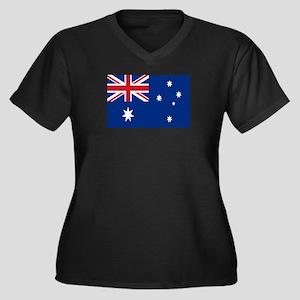 Australia fl Women's Plus Size V-Neck Dark T-Shirt