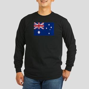 Australia flag Long Sleeve Dark T-Shirt