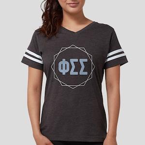 Phi Sigma Sigma Letters Womens Football Shirt