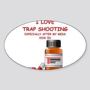 i love trap shooting Sticker
