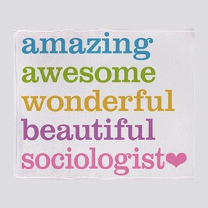 Awesome Sociologist Throw Blanket