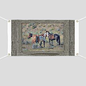 Old window horses 3 Banner