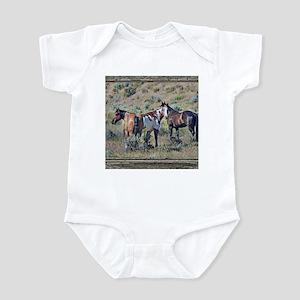 Old window horses 3 Infant Bodysuit