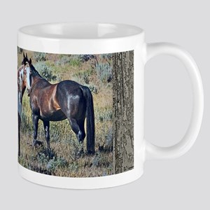 Old window horses 3 Mug
