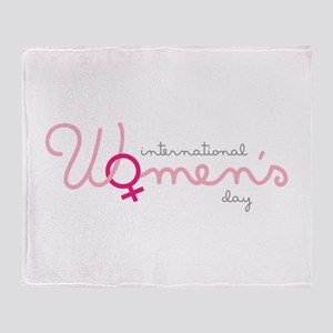 International Womens Day Throw Blanket