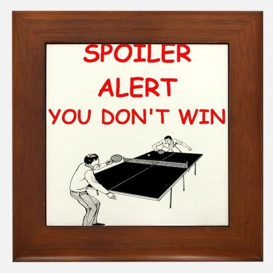 i love table tennis Framed Tile