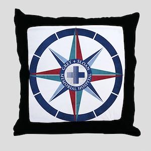 Grey Sloan Memorial Hospital Compass Throw Pillow