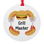 Grill Master Hamburgers Hot Dots Ornament