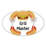 Grill Master Hamburgers Hot Dots Sticker