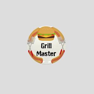 Grill Master Hamburgers Hot Dots Mini Button