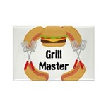 Grill Master Hamburgers Hot Dots Magnets