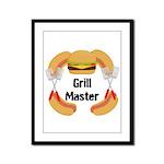 Grill Master Hamburgers Hot Dots Framed Panel Prin