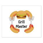 Grill Master Hamburgers Hot Dots Posters