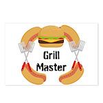 Grill Master Hamburgers Hot Dots Postcards (Packag