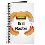 Grill Master Hamburgers Hot Dots Journal