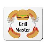 Grill Master Hamburgers Hot Dots Mousepad