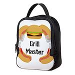 Grill Master Hamburgers Hot Dots Neoprene Lunch Ba
