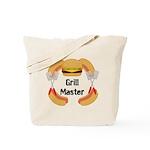 Grill Master Hamburgers Hot Dots Tote Bag