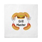 Grill Master Hamburgers Hot Dots Queen Duvet