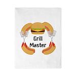 Grill Master Hamburgers Hot Dots Twin Duvet