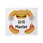 Grill Master Hamburgers Hot Dots Throw Blanket