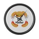 Grill Master Hamburgers Hot Dots Large Wall Clock