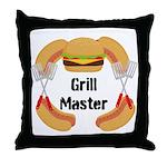 Grill Master Hamburgers Hot Dots Throw Pillow