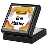 Grill Master Hamburgers Hot Dots Keepsake Box