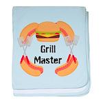 Grill Master Hamburgers Hot Dots baby blanket