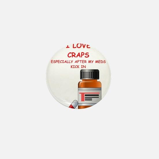 i love craps Mini Button