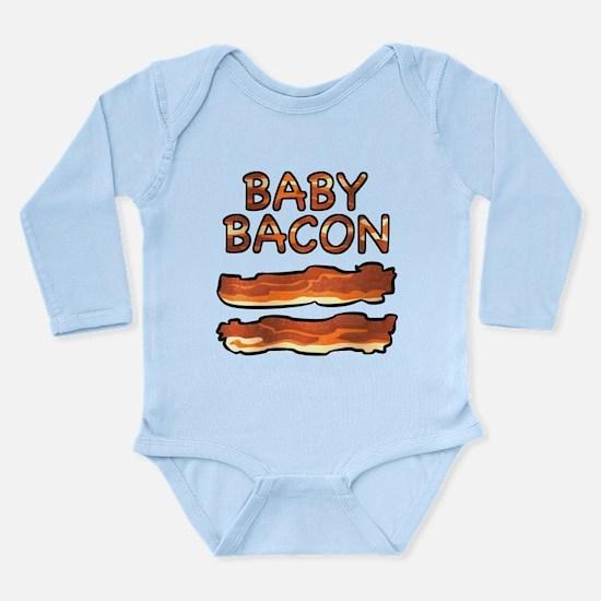 Cute Bacon themed Long Sleeve Infant Bodysuit