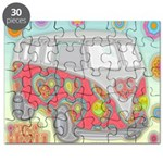 Hippie Van Glass Print Puzzle