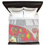Hippie Van Glass Print King Duvet