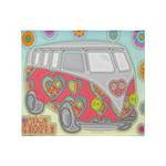 Hippie Van Glass Print Throw Blanket