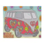 Hippie Van Glass Print Throw Blanket