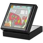 Hippie Van Glass Print Keepsake Box
