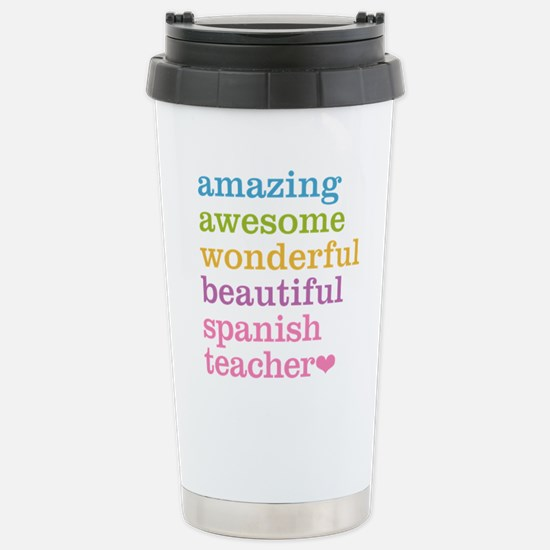 Spanish Teacher Stainless Steel Travel Mug