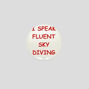 i love sky diving Mini Button