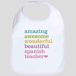 Spanish Teacher Bib