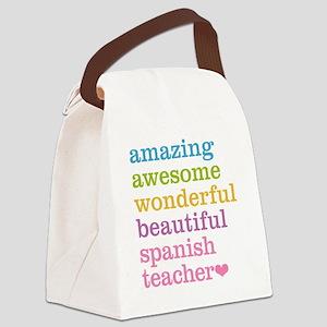 Spanish Teacher Canvas Lunch Bag