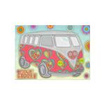 Hippie Van Glass Print 5'x7'Area Rug