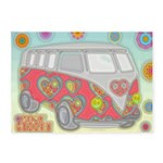 Hippie Van Glass Print 5'x7'Area Rug