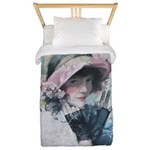 Rolf Armstrong Woman old illustration Twin Duvet