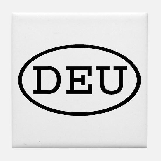 DEU Oval Tile Coaster