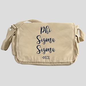 Phi Sigma Sigma Script Messenger Bag