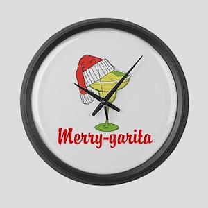 Merry-garita Large Wall Clock