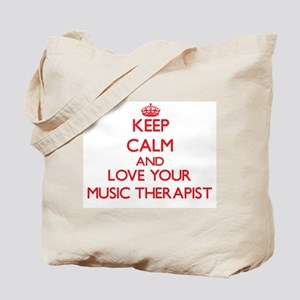 Keep Calm and love your Music Therapist Tote Bag