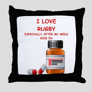 i love rugby Throw Pillow