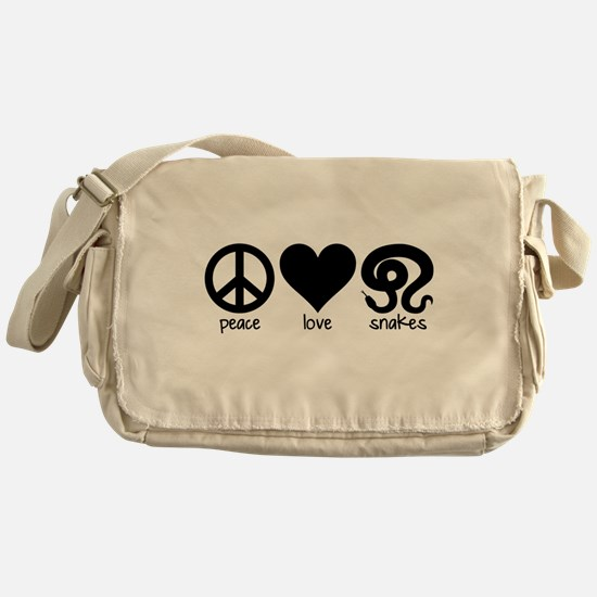 Peace Love And Snakes Messenger Bag